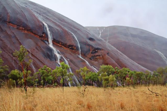 Rain over Uluru