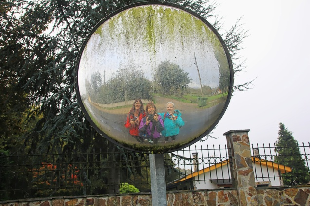 Fun with mirrors on the Camino just outside of Sarria