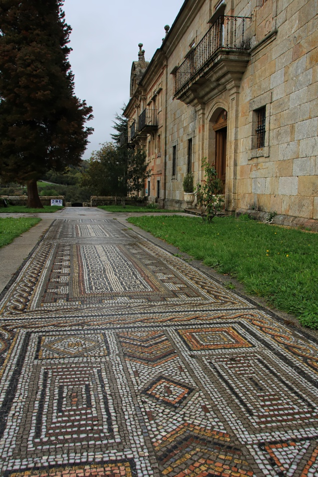 Beautiful mosaic road outside the monastery