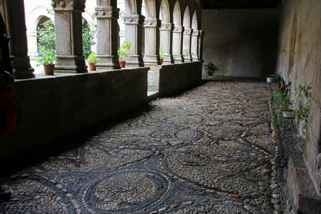 Mosaic floor inside the Monastero de Magdalena