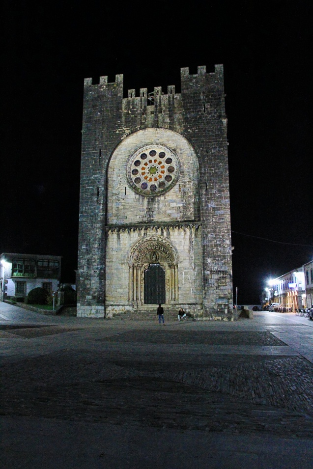Church in the square in Portomarin