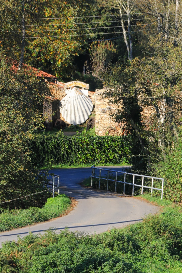 The shell is a symbol of the Camino. Some are hard to find. This one sure isn't.