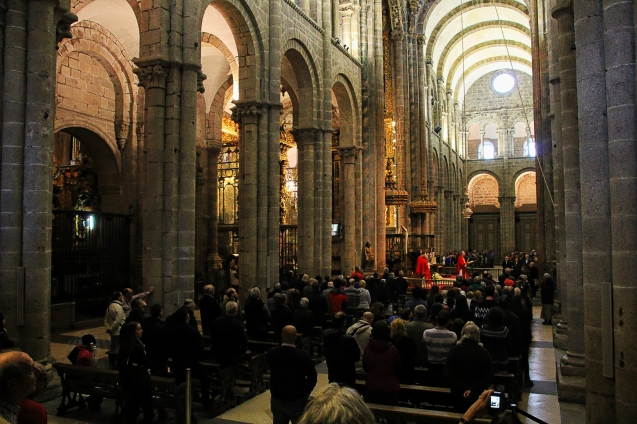 The pilgrims mass in the Cathedral.