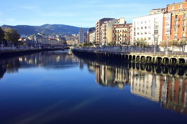 Morning reflections on the river Nervion