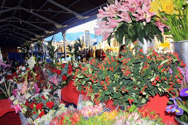 Sunday flower market