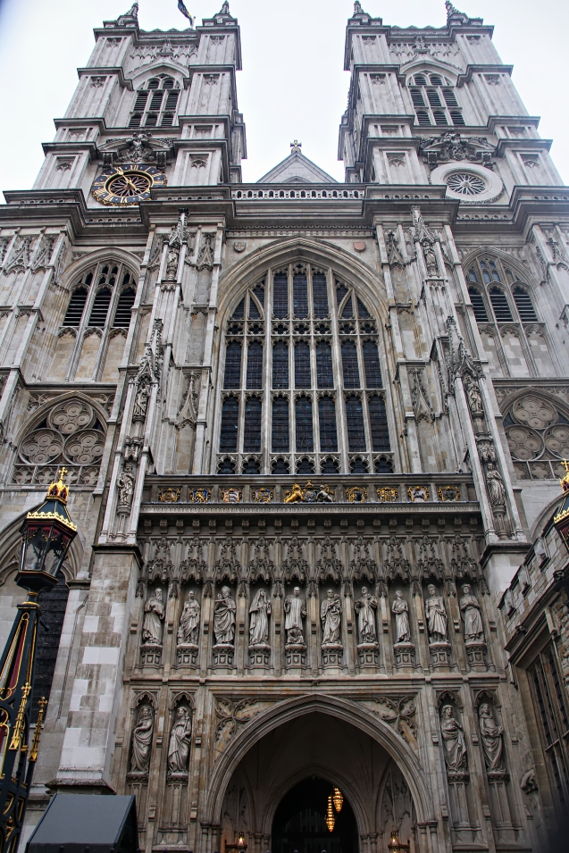 Closer view of Westminster Abbey