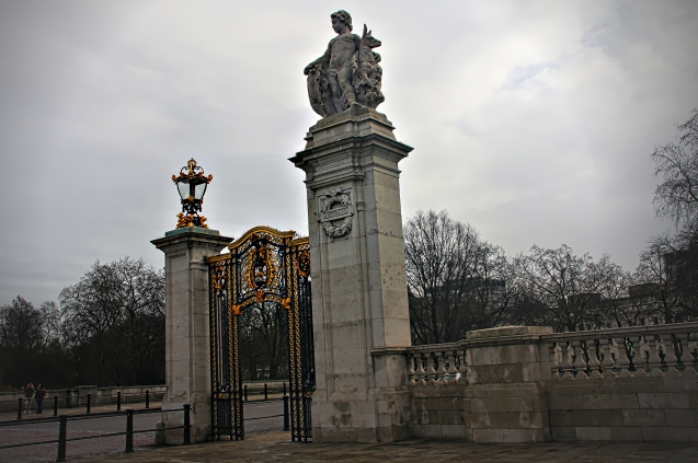 The Australia gate in front of Buckingham Palace