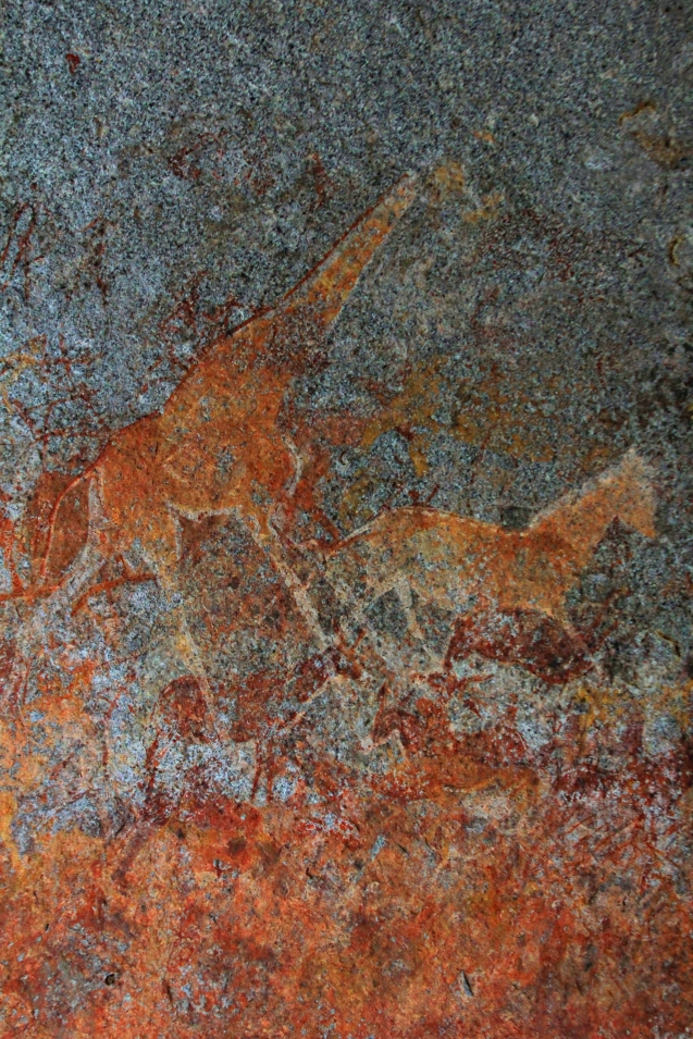 9,000 year old cave paintings