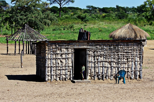 Typical home in a Botswana village