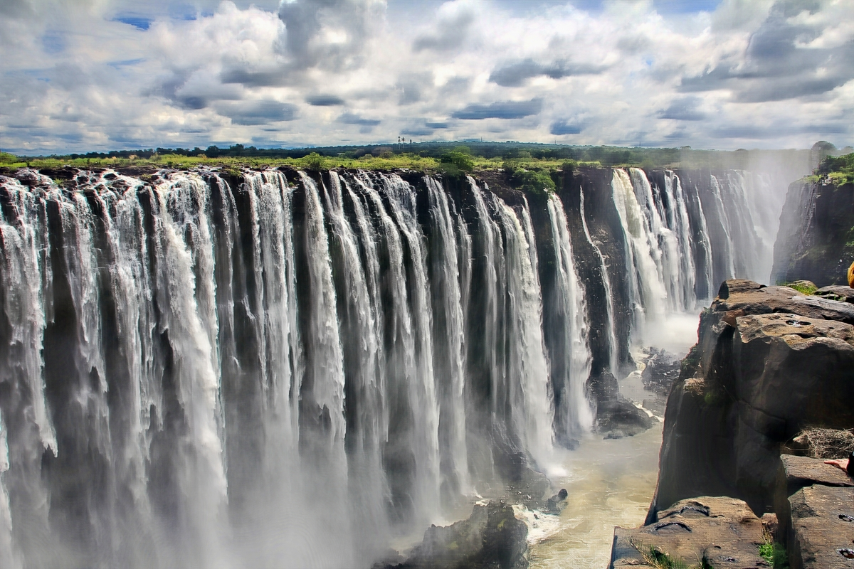 Victoria Falls. Water that SMOKES! Zimbabwe