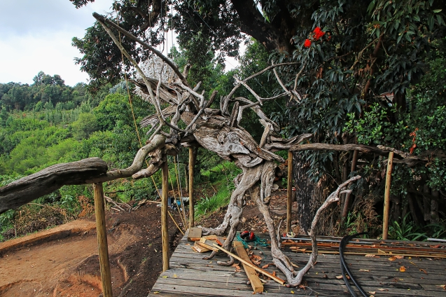 Dragon made of scrap  (drift) wood