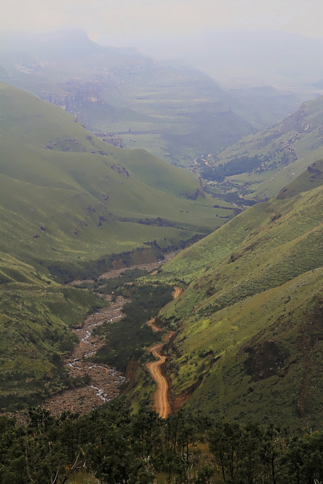 Going up the Sani pass