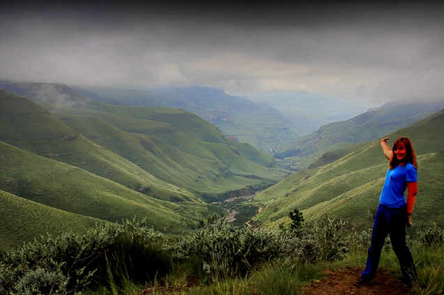 View on the road up to Lesotho
