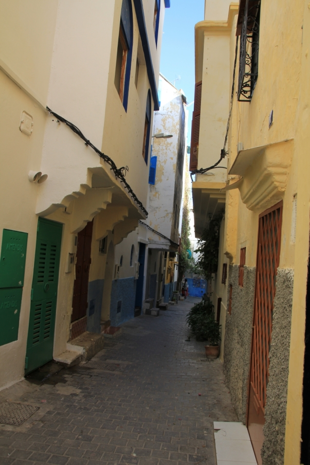 Typical street in Tangiers