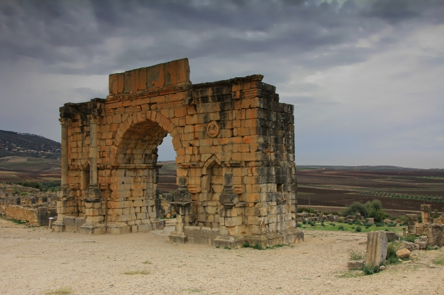 Volubilis is a partly excavated Berber and Roman city in Morocco situated near the city of Meknes, and commonly considered as the ancient capital of the kingdom of Mauretania