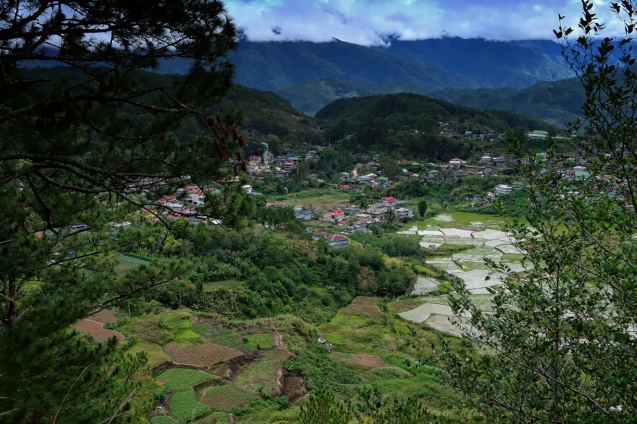 View of Sagada from the road to Lake Dunam