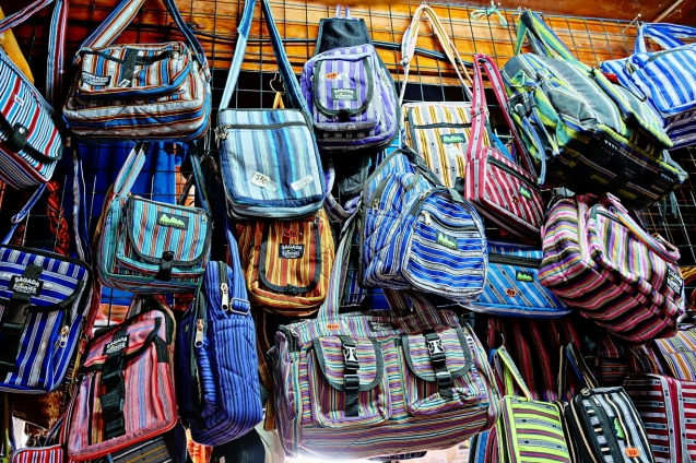 Bags made by Indigenous people of Sagad