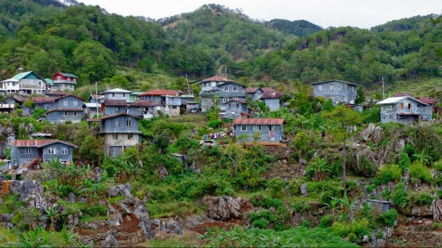 Houses built in the rocks