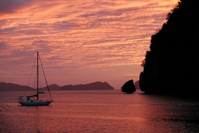 Sunset over El Nido